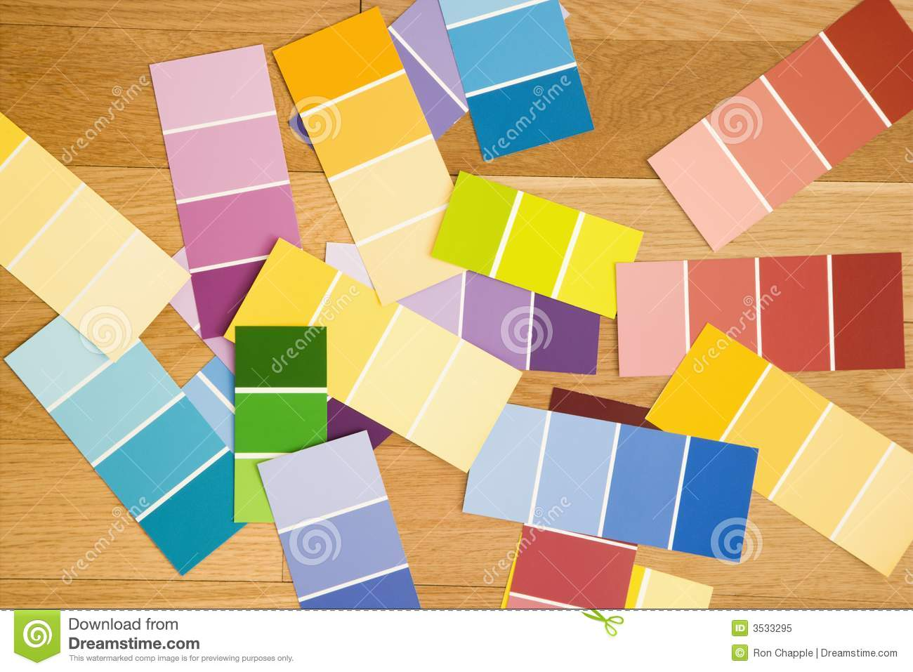 Color Paint Swatches Royalty Free Stock Photo Image