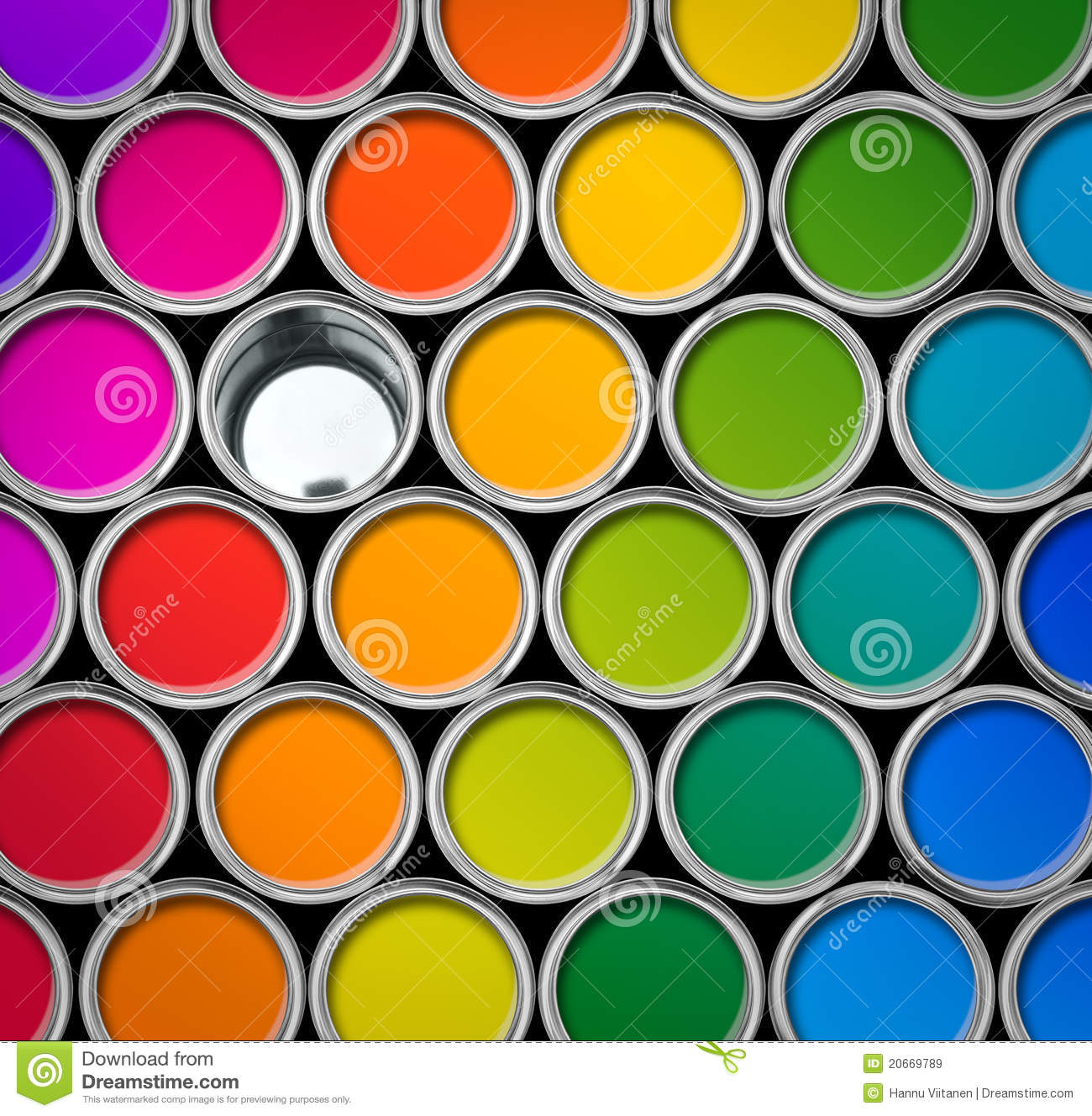 Color Paint Tin Cans Top View Stock Image Image 20669789