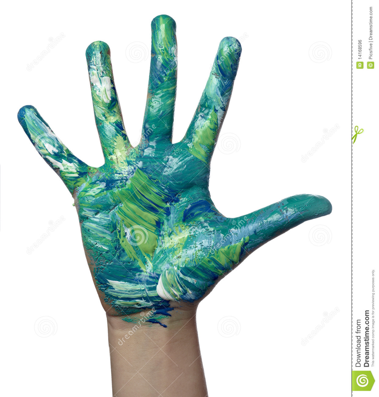 Color painted child hand art craft stock photo image for Crafts with hands