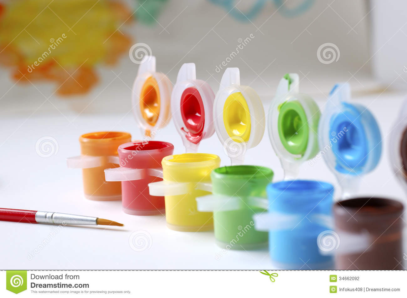 Painting Color color paints and paint brush stock photography - image: 34662092
