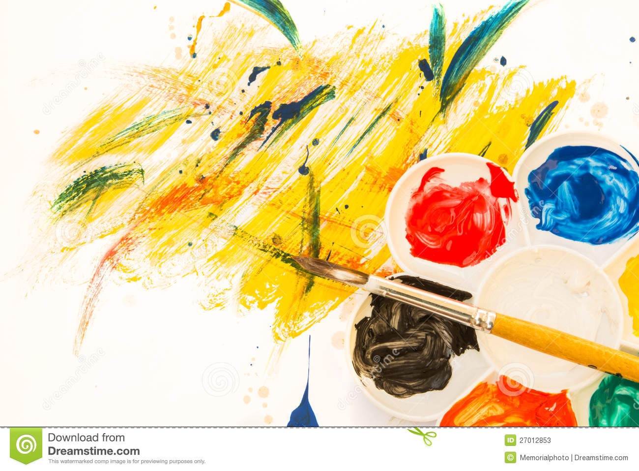 Color Palette On Art Paper Stock Image Image Of Hobby 27012853