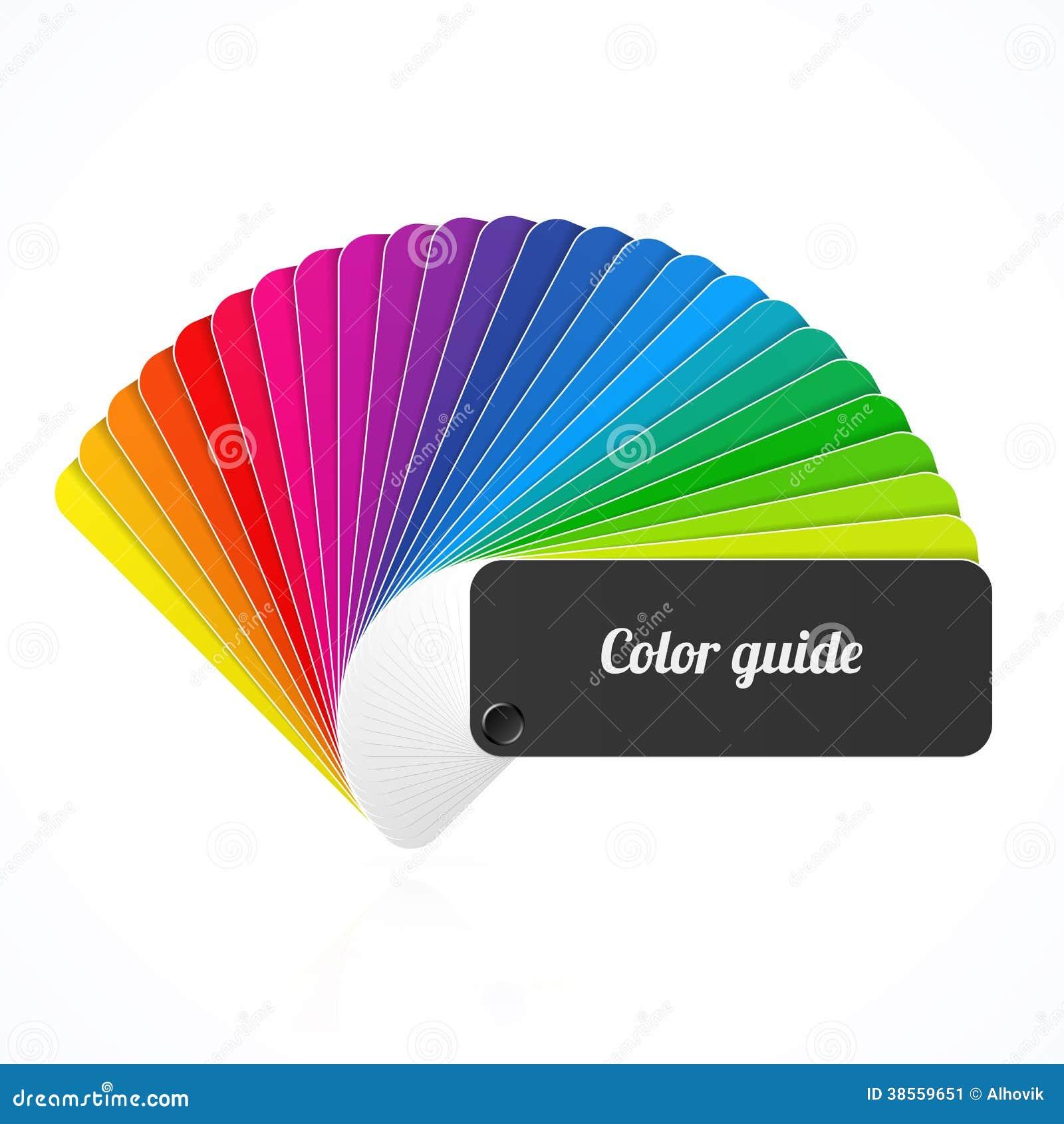 color palette guide fan catalog stock image image. Black Bedroom Furniture Sets. Home Design Ideas