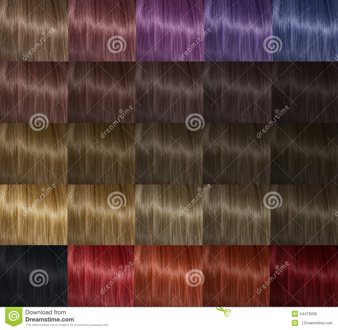Color palette hair stock photo. Image of colored, purple ...