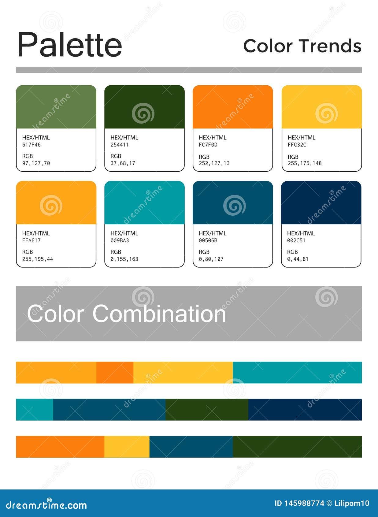 Color Palette, Harmonious Combination, Codes And Names