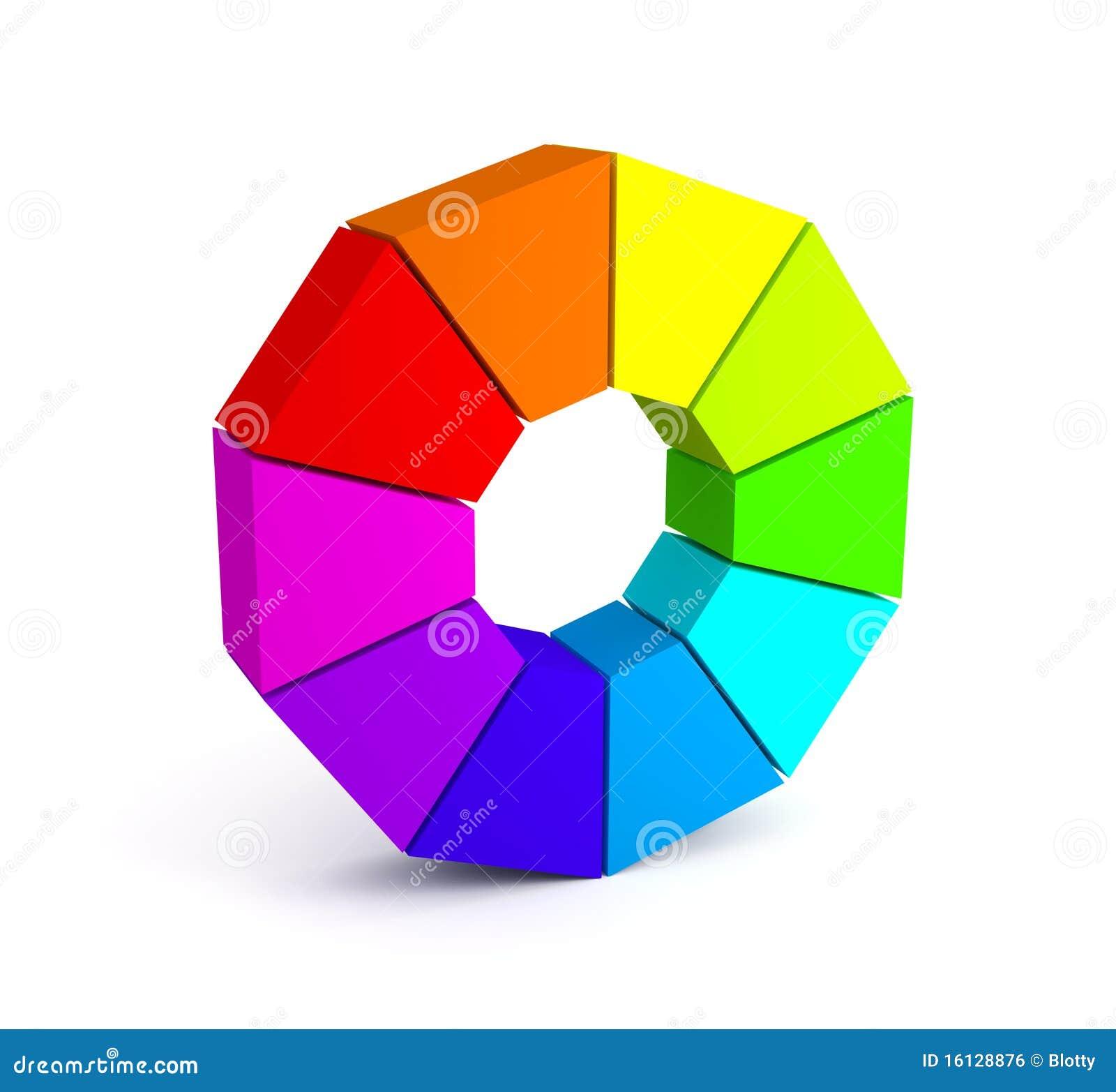 Color Palette Over White Background Stock Illustration ...