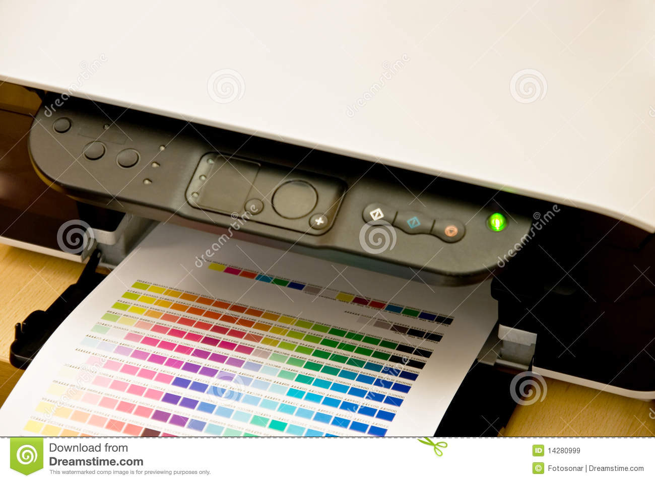 how to find which color less printer