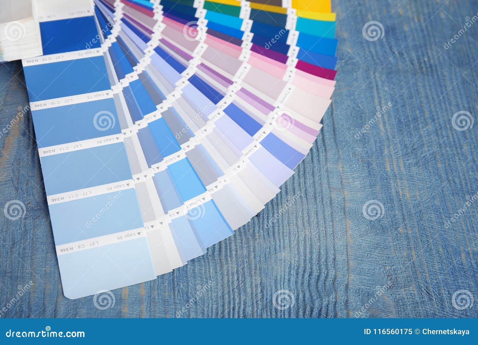 Color palette samples on background