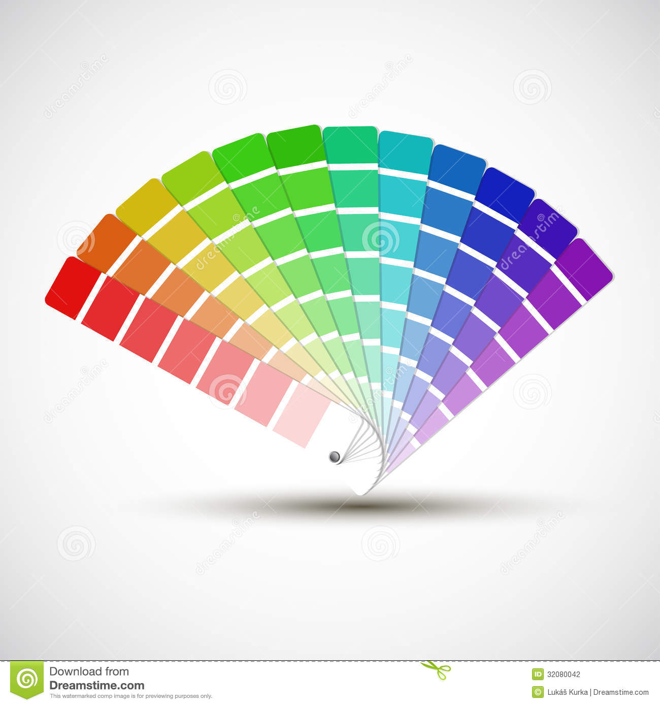 Color Palette On White Background Stock Photography ...