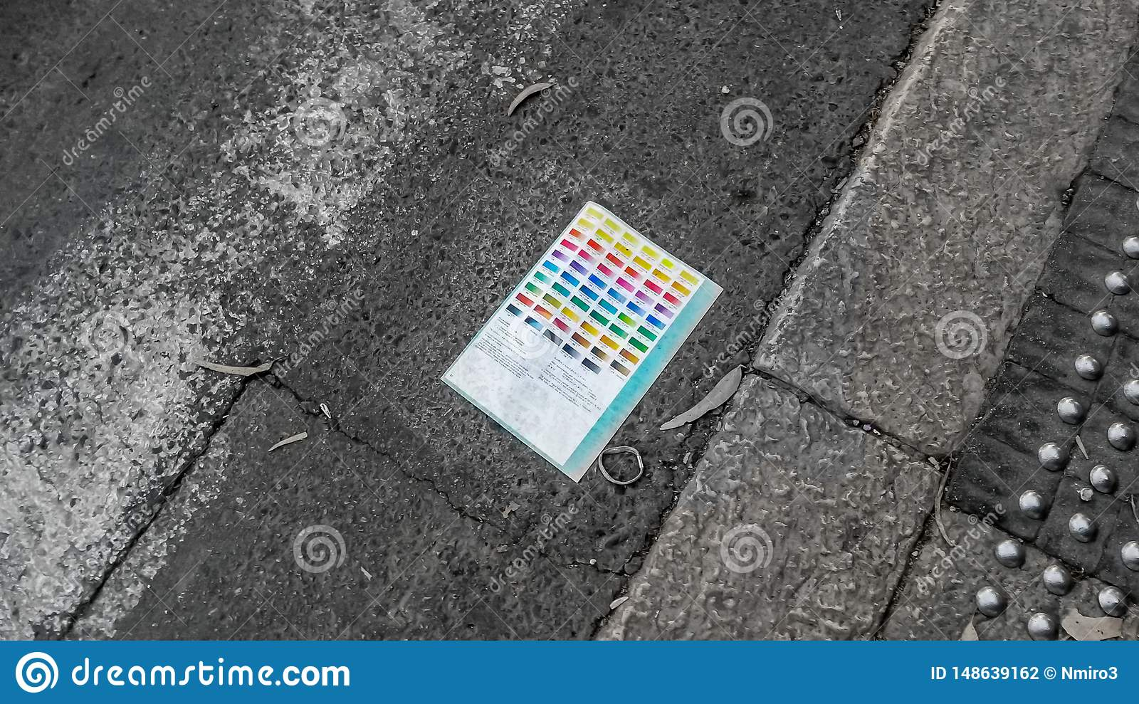 Color Pallet On The Road Stock Photo Image Of Rainbow