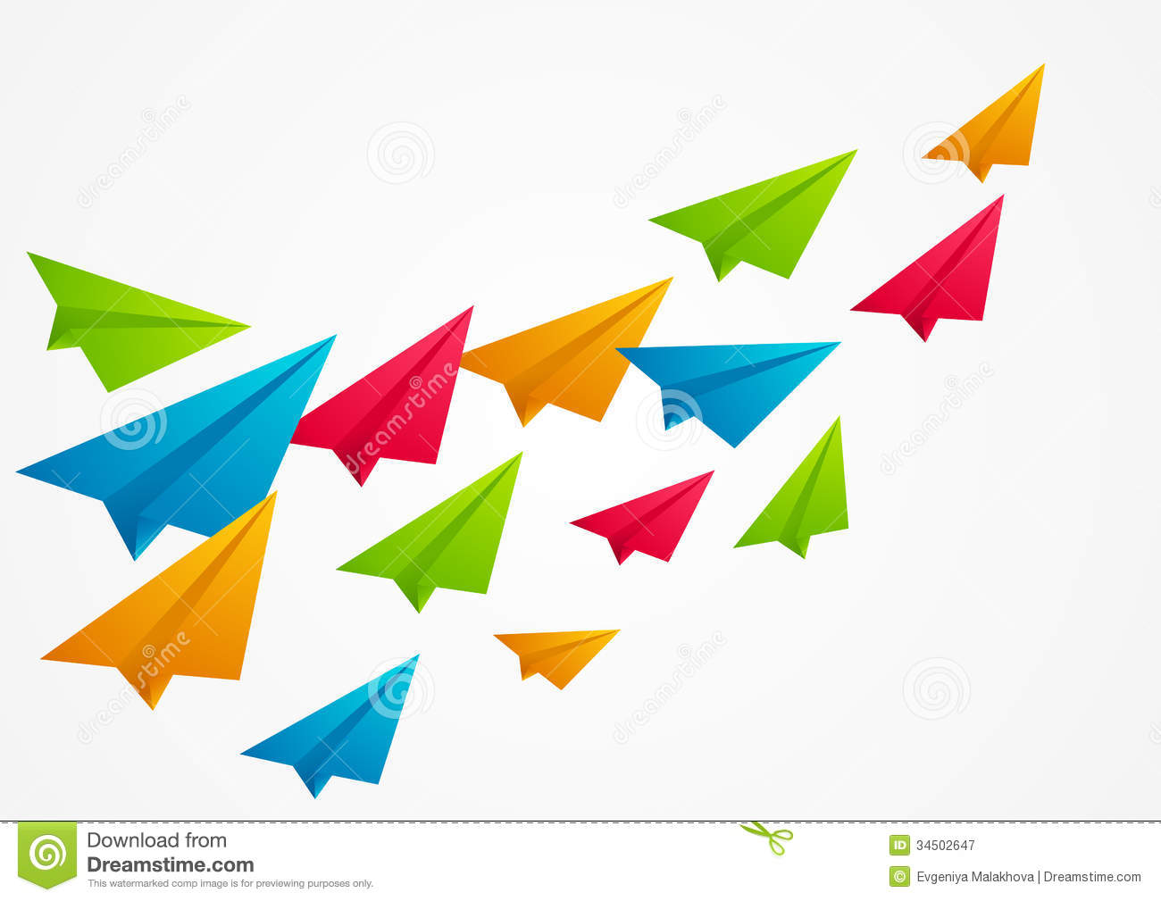 Color Paper Airplanes Royalty Free Stock Photography - Image: 34502647