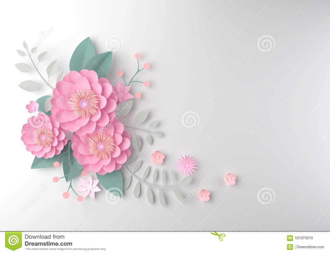 Color Paper Flower Wallpaper Background Abstract Floral Backgro