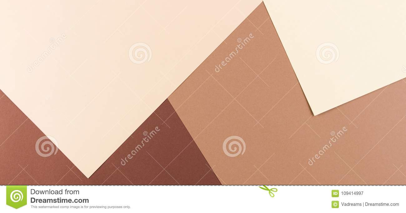 Color Papers Geometry Composition Banner Background With Pink, Beige ...