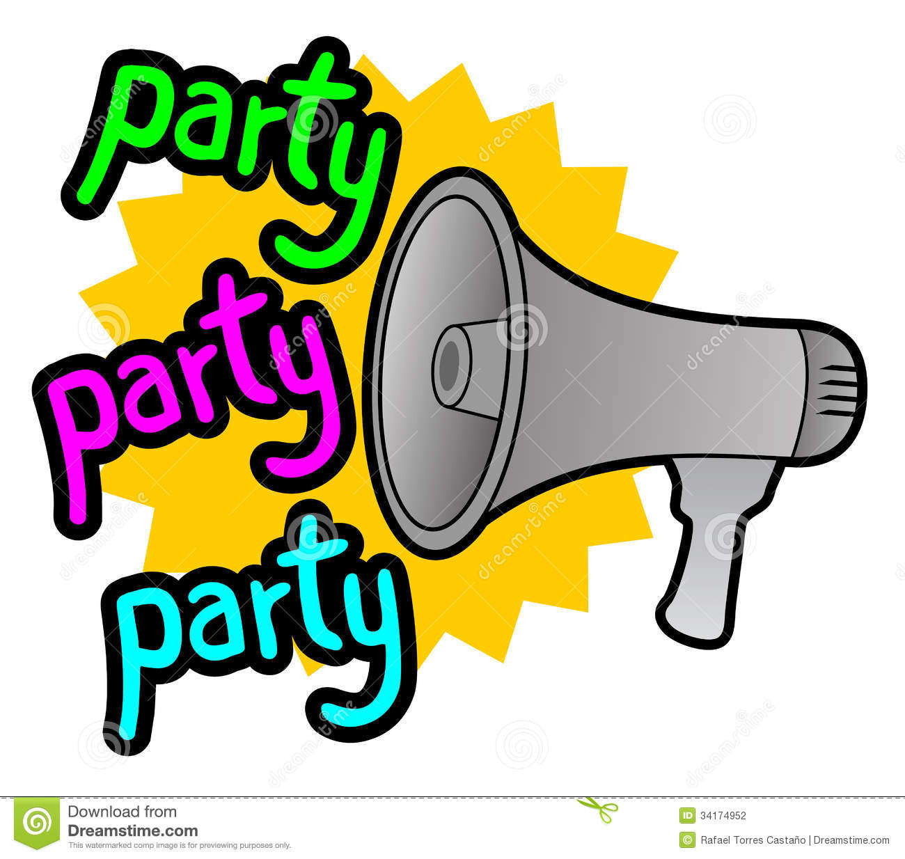Color Party Icon Stock Photography - Image: 34174952
