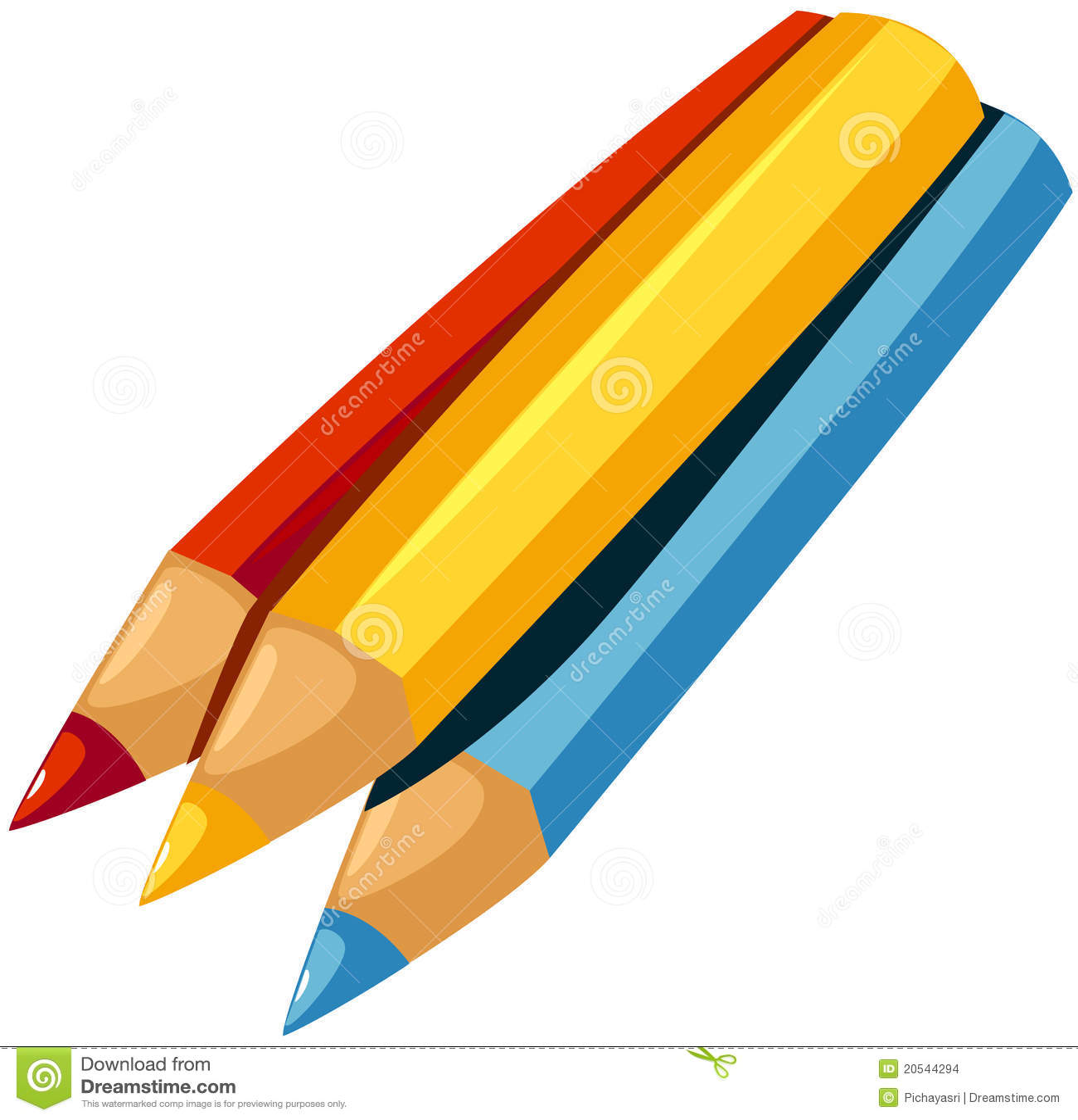color pencil stock vector illustration of colour color 20544294