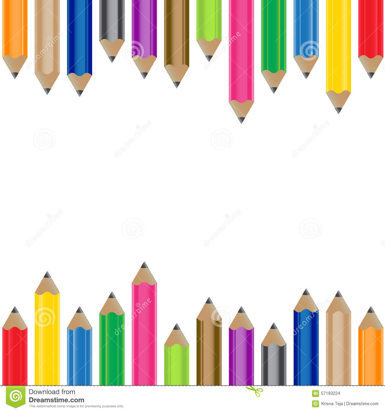 Color Pencil Background Stock Photo - Image: 57193224