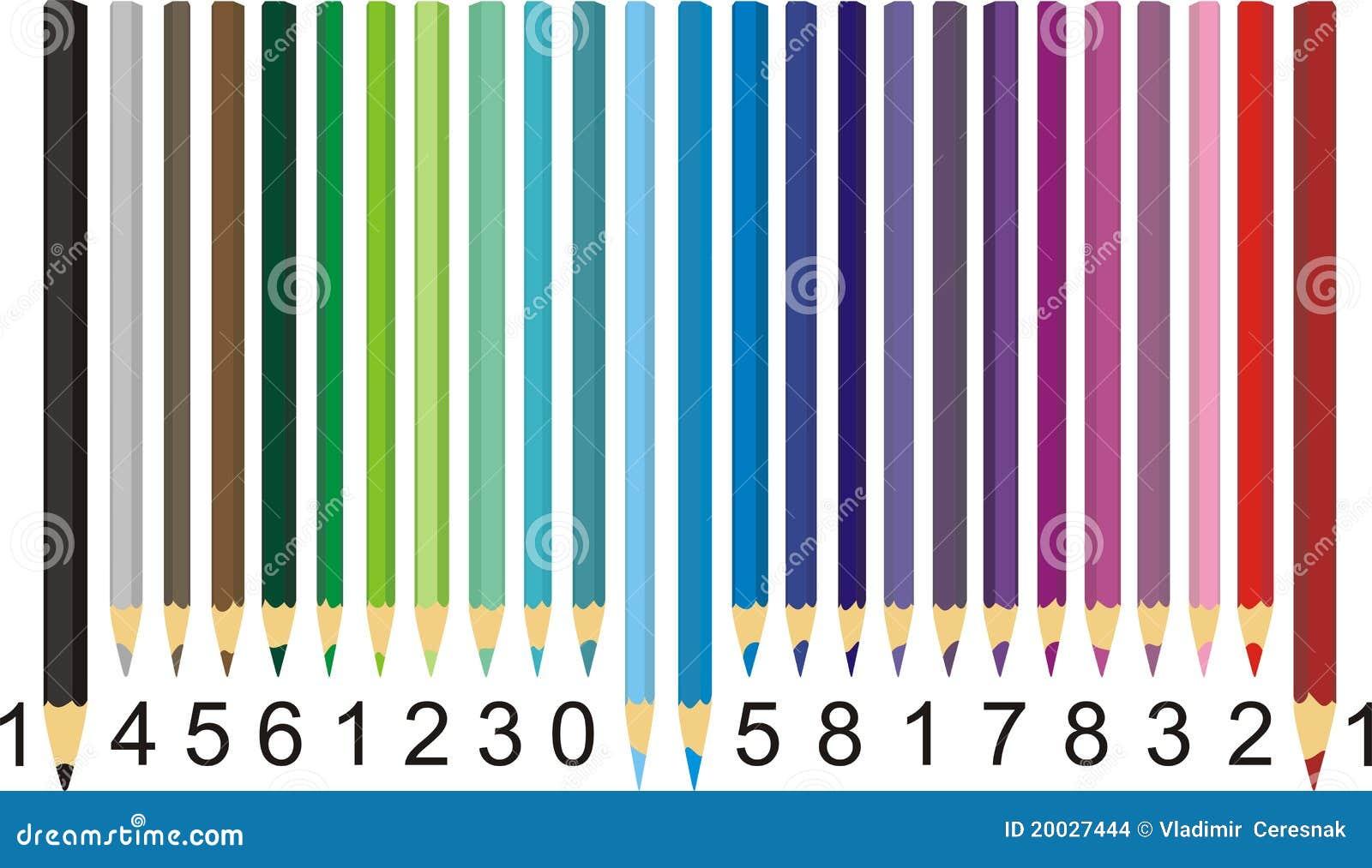 Fereditions31 Codigos De Barra Png: Color Pencil Barcode Stock Vector. Illustration Of Data