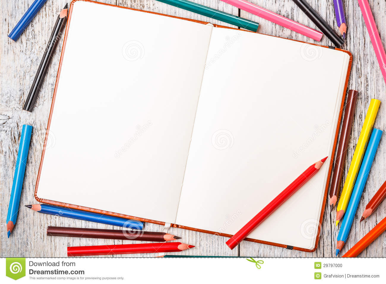 Notebook And Pen Sketch Stock Vector Art More Images Of: Color Pencil And Notepad Stock Photo
