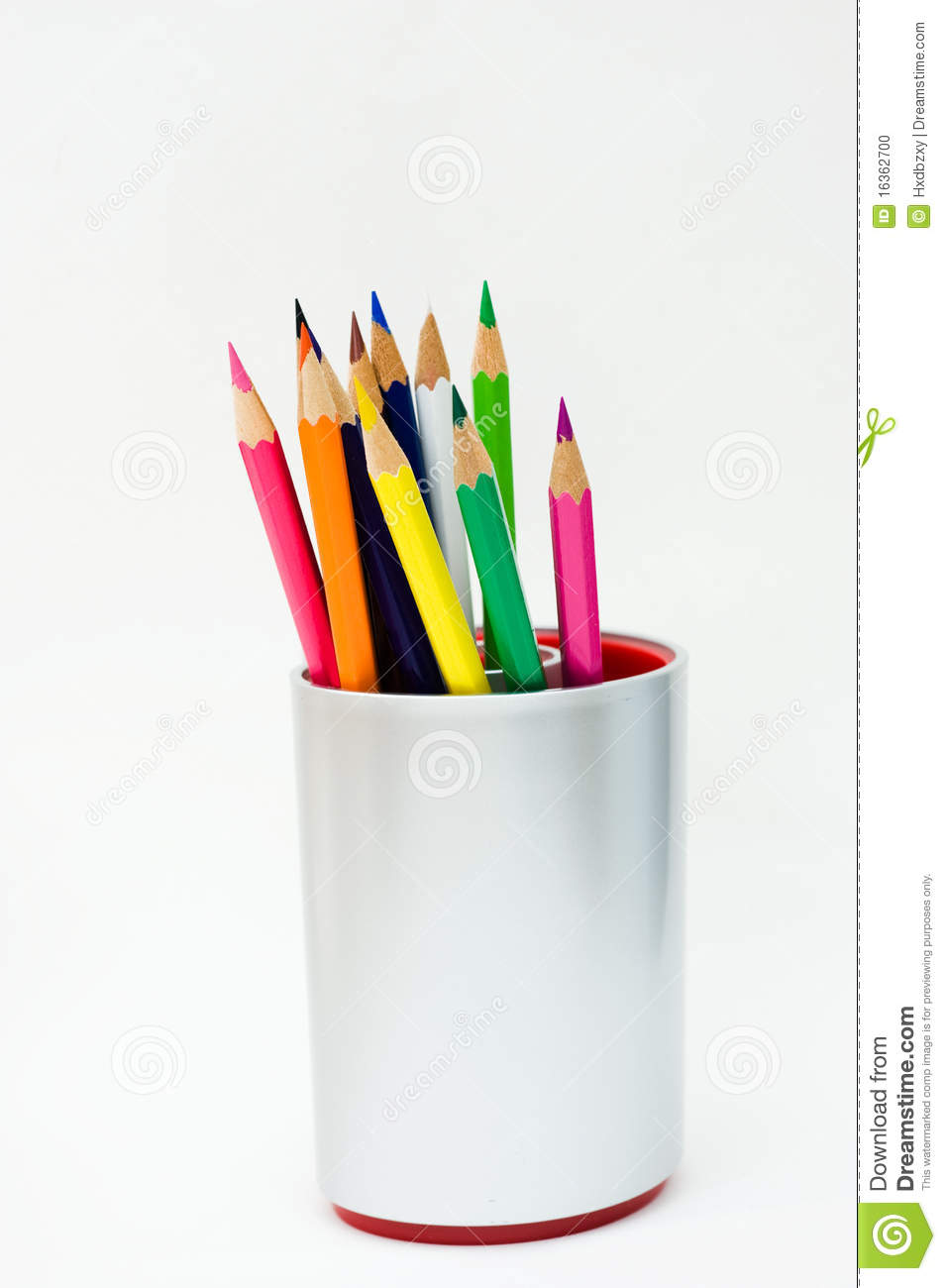 Color Pencils In A Jar Stock Photo Image Of Iron
