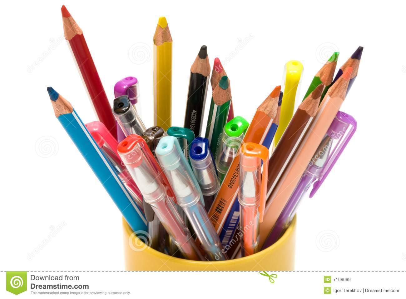 Colors That Go With Green Color Pencils And Pens Royalty Free Stock Images Image