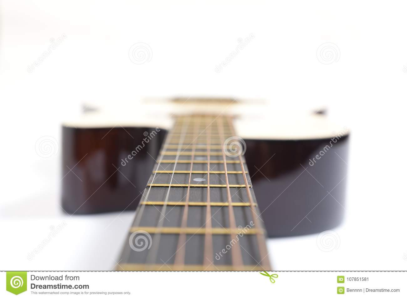 Color Photo Of Acoustic Guitar Stock Image Image Of Bedding