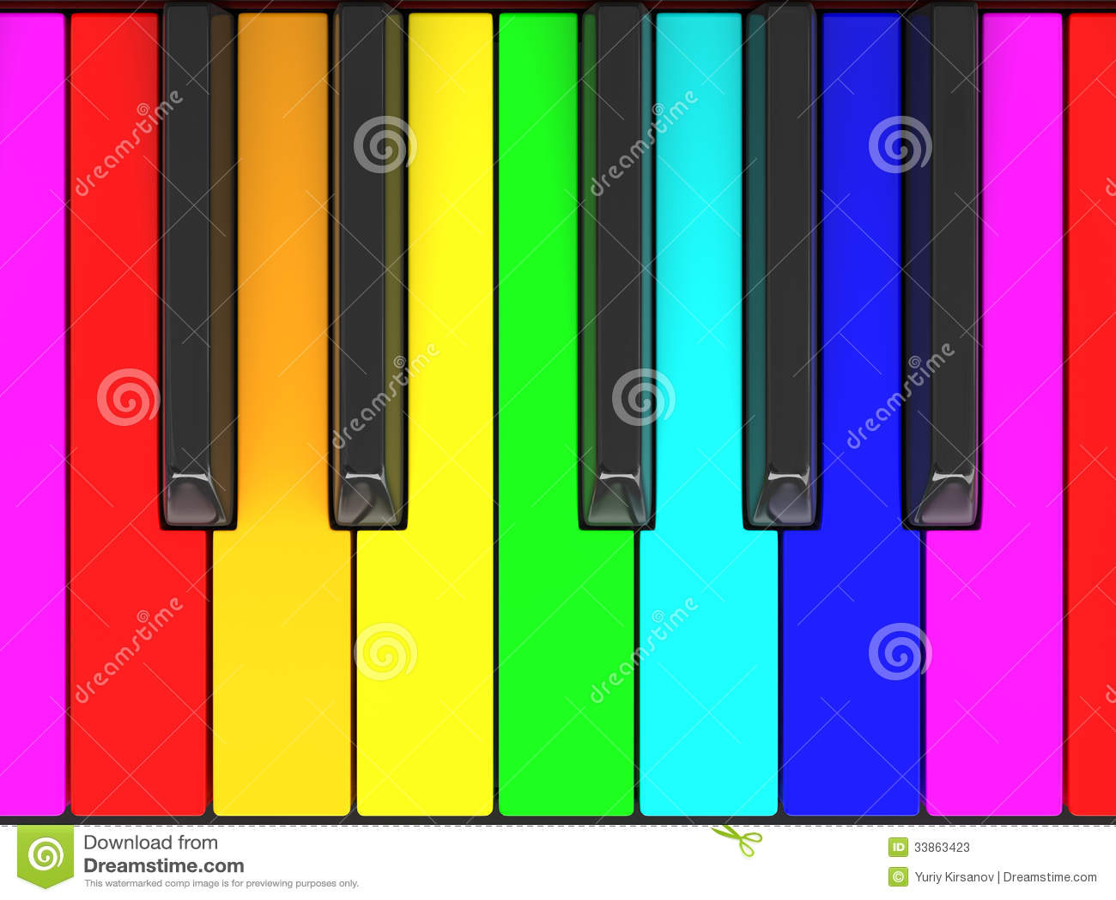 Piano keys coloring page