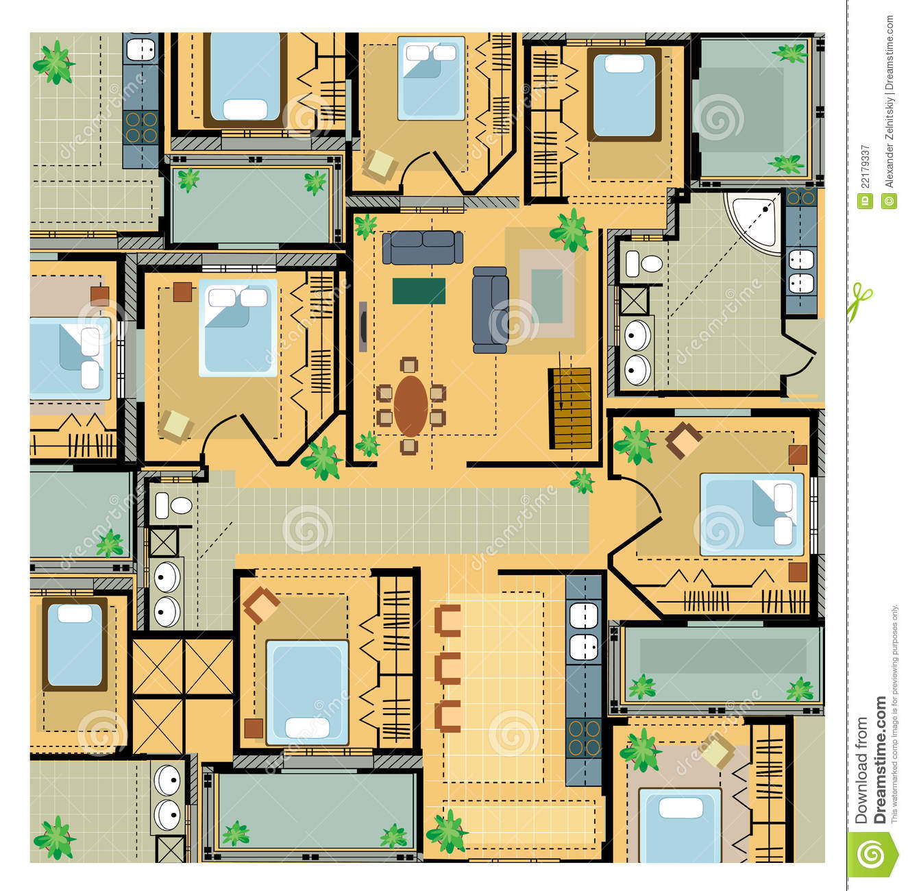 Color plan house royalty free stock photography image 22179337 - Colorful house plans ...
