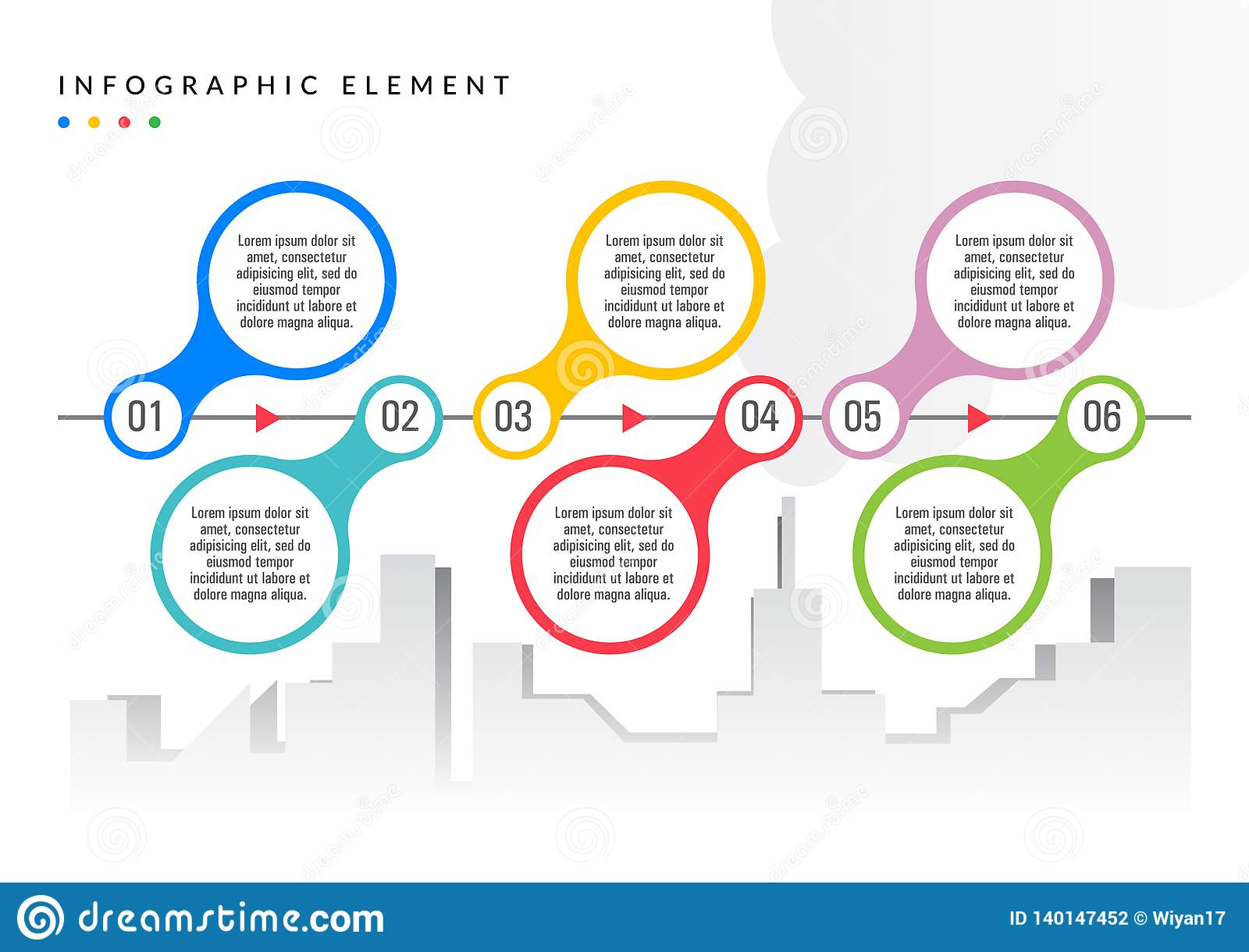Color plano simple del elemento de Infographic