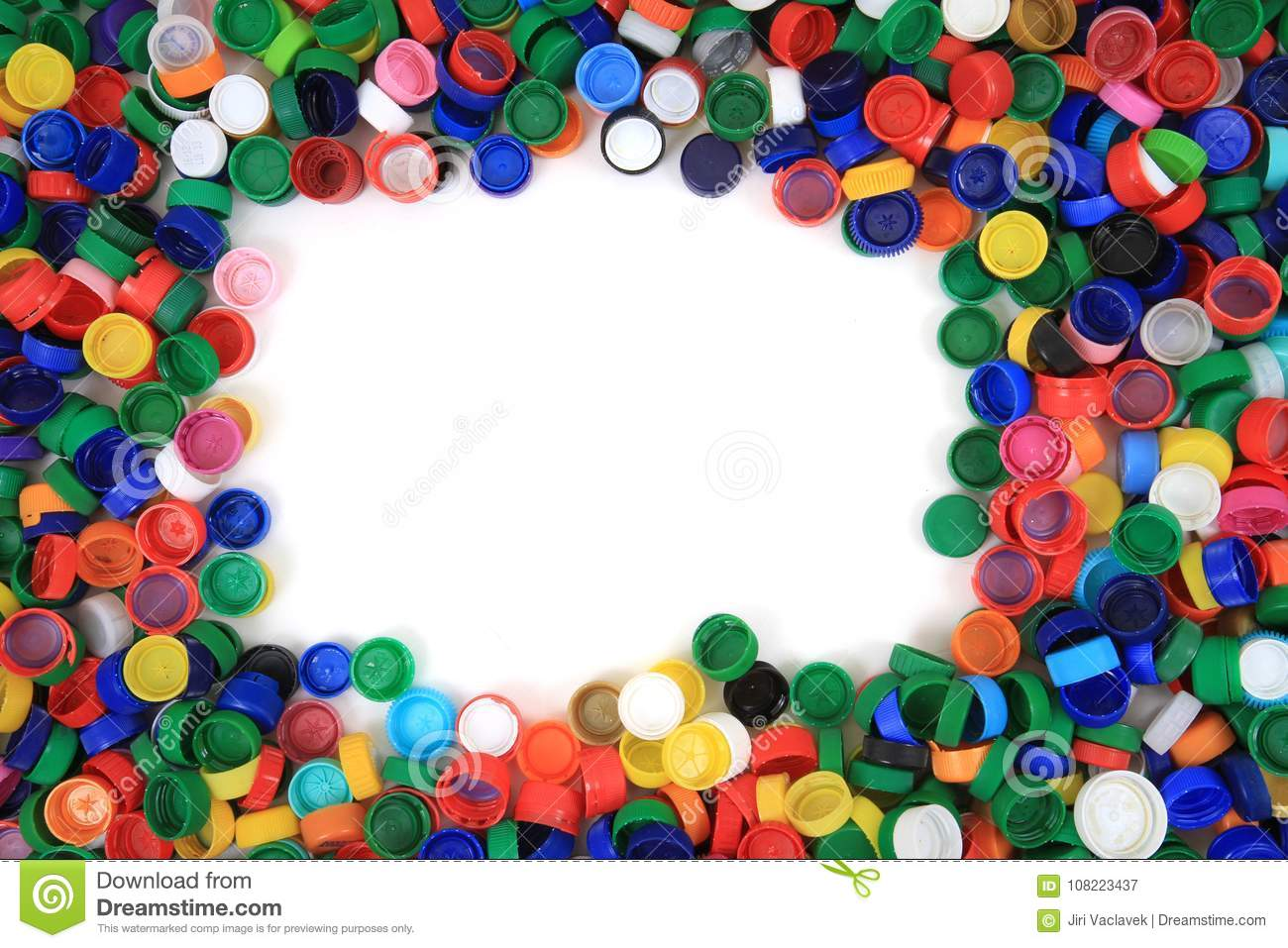 Color plastic caps texture stock image  Image of ecology