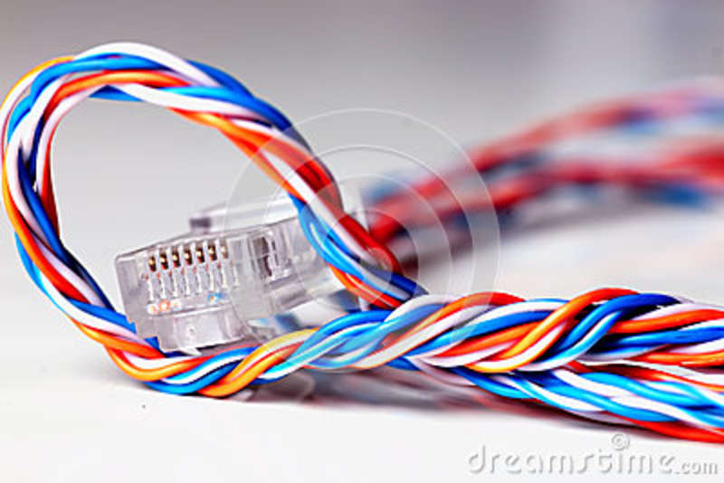Surprising Color Plug Wire Lan Stock Image Image Of Braided Communication Wiring 101 Olytiaxxcnl