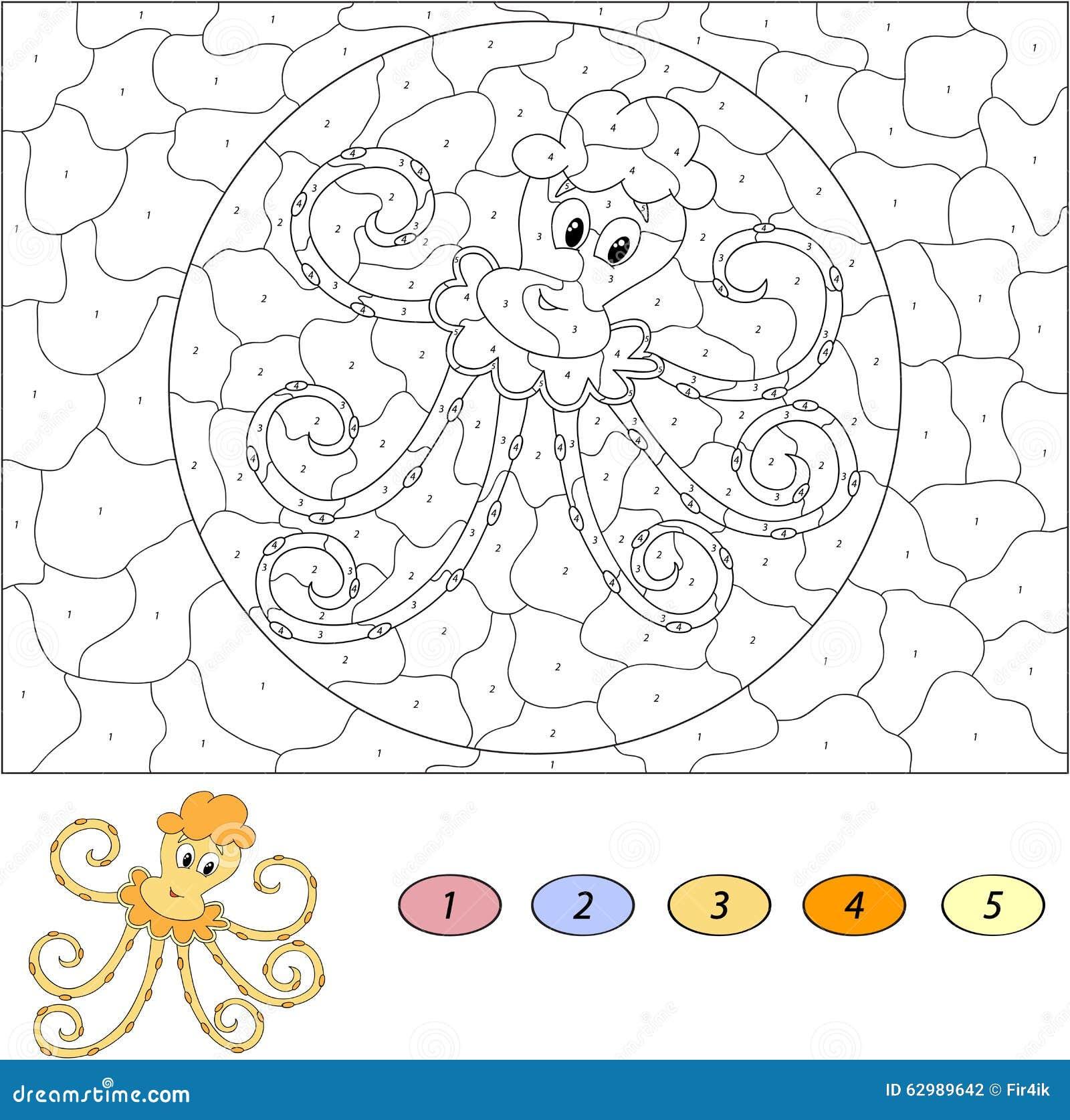 Color Por Juego Educativo Del Mero Para Los