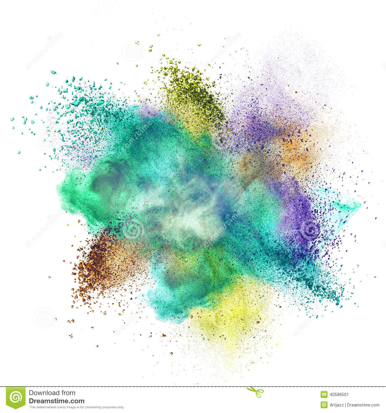 Color powder ex... Explosion White Background