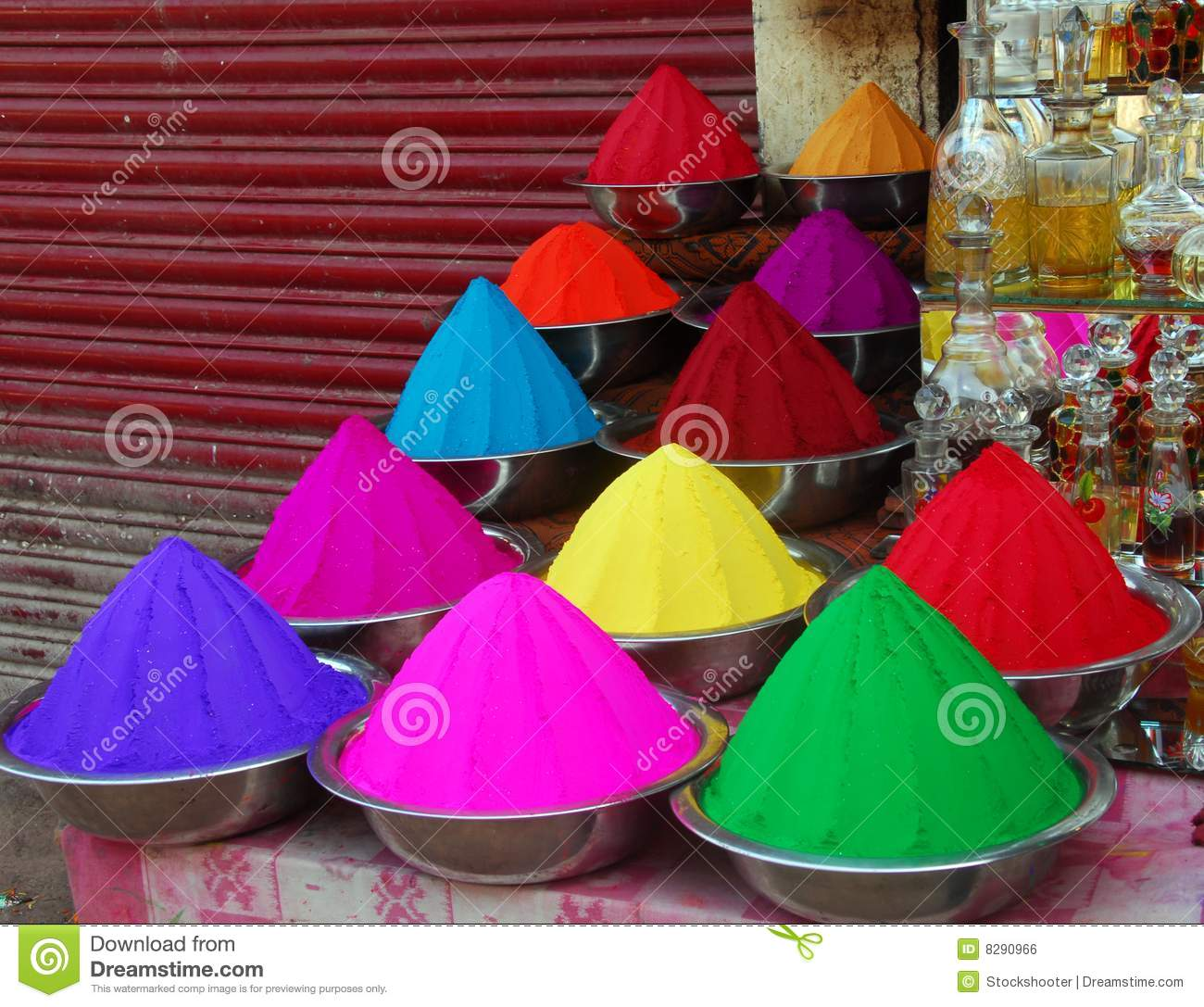 Colorful christmas tree of hands royalty free stock photos image - Color Powder For Holi Festival Royalty Free Stock Image