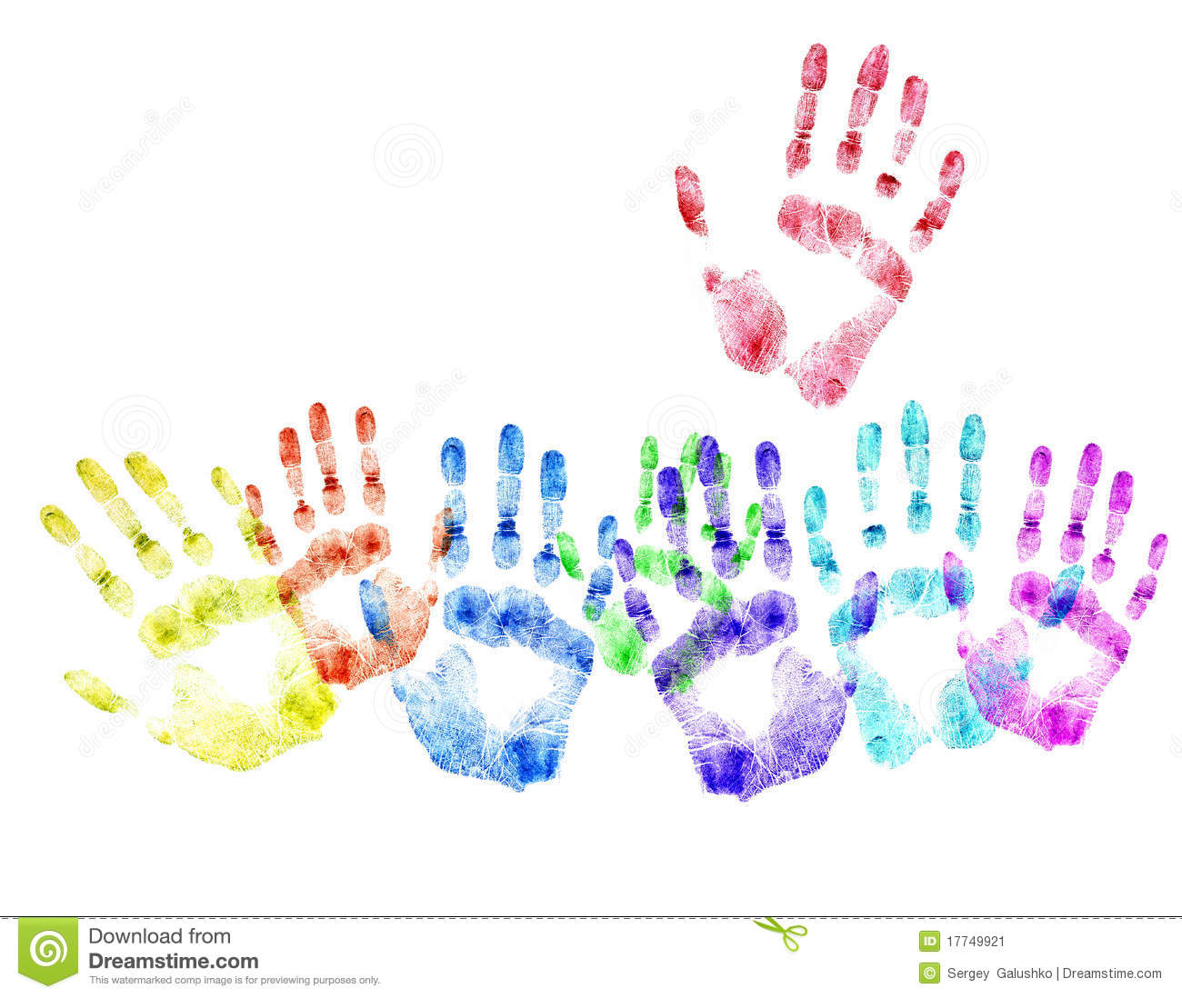 Color Print Of Human HandsConcept Of Voting Stock Image