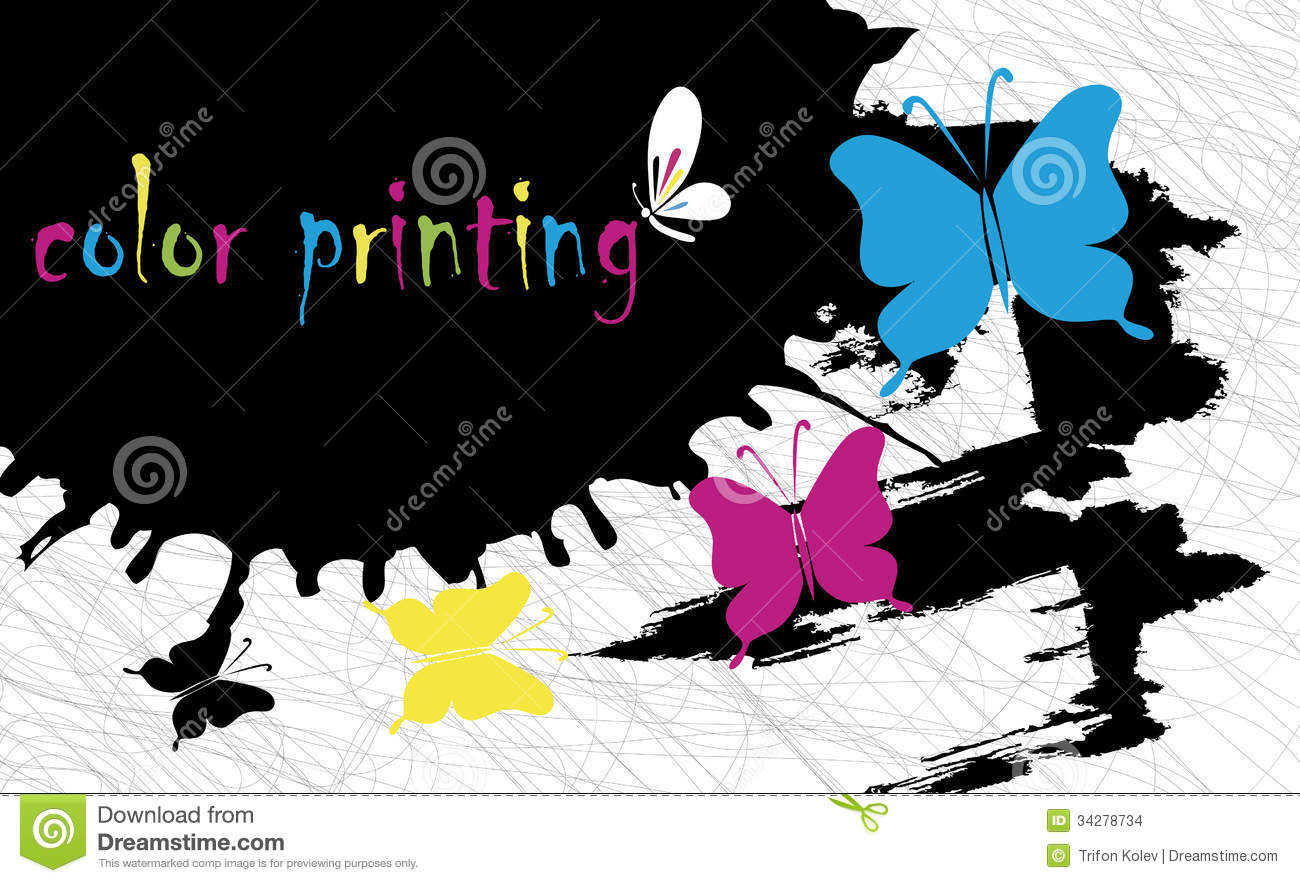 Color Printing Background Stock Photo Image Of Office