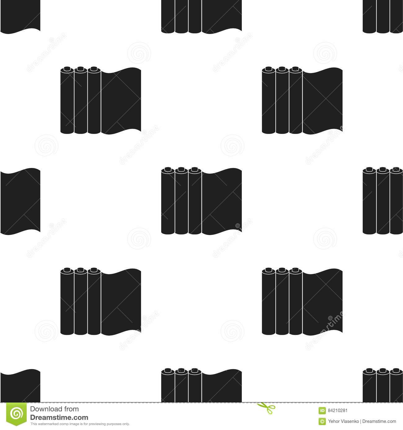 Color printing paper - Color Printing Paper In Black Style Isolated On White Background Typography Pattern Stock Vector Illustration