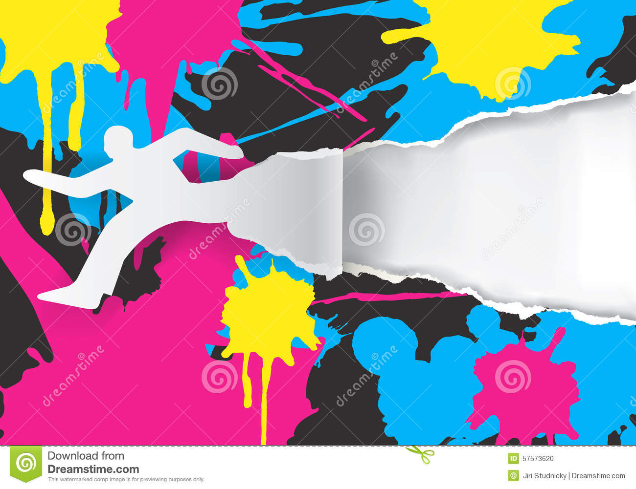 Color Printing Promotion Background Stock Vector