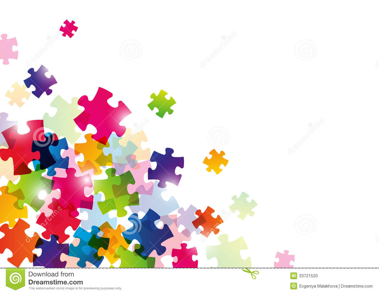 Color Puzzle Background Blank Illustration