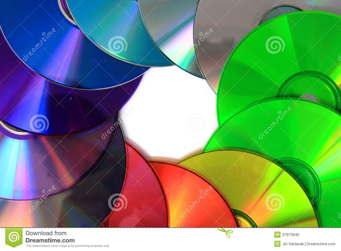 Rainbow Music Stock Images: Music Cd Dvd Rainbow Stock Images