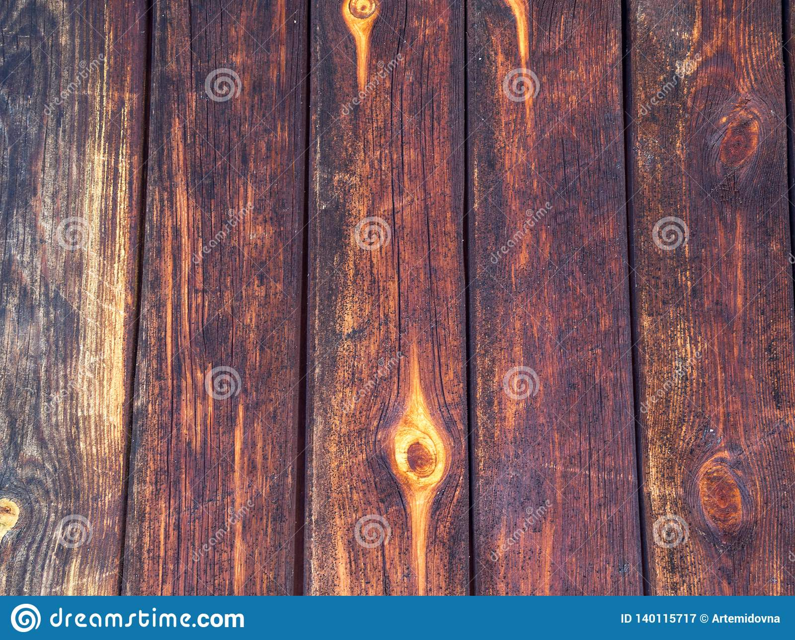 Color red painted wooden surface with mold