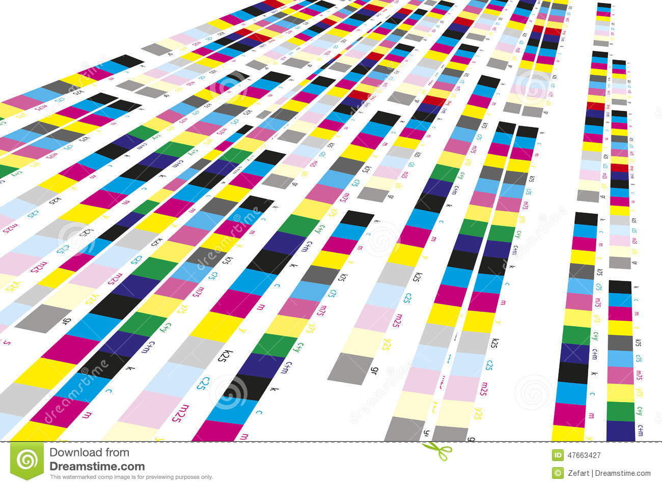 Color reference bars of printing process stock image image of color reference bars of printing process chart lithograhic nvjuhfo Gallery