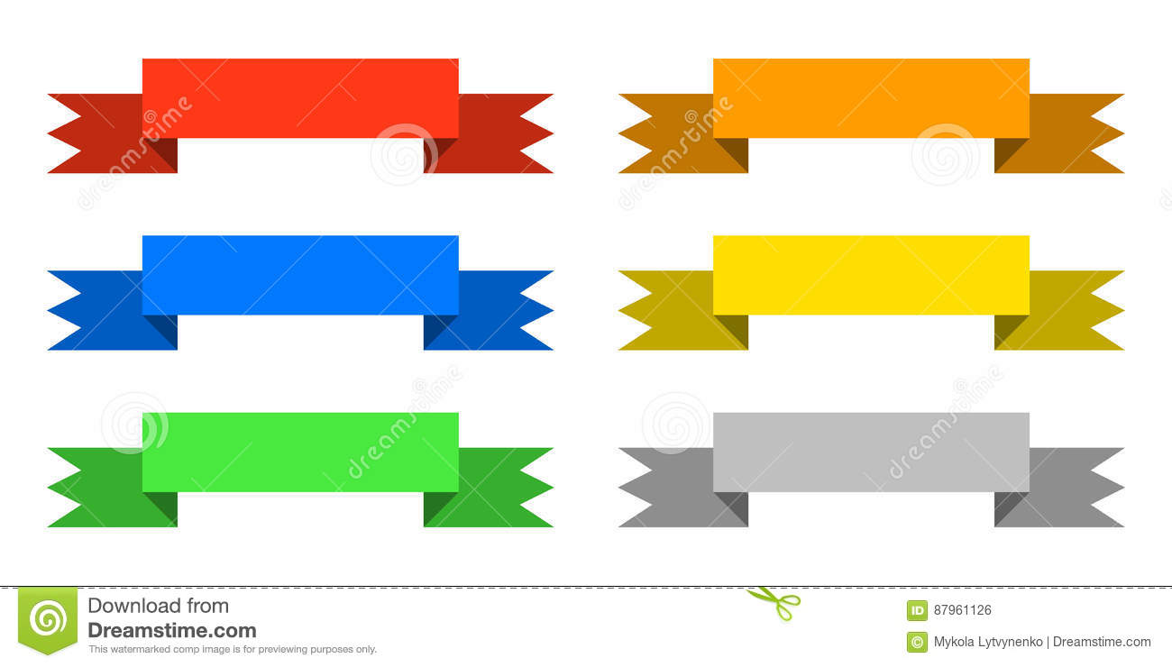Color ribbons set icon