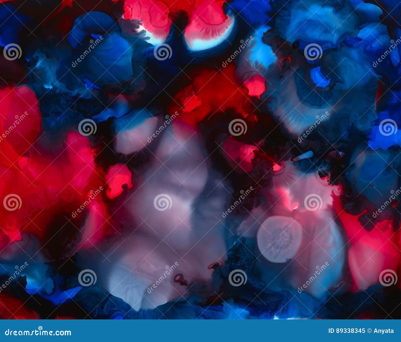 Color Rojo Brillante Azul Negro Que Combina Puntos Stock De