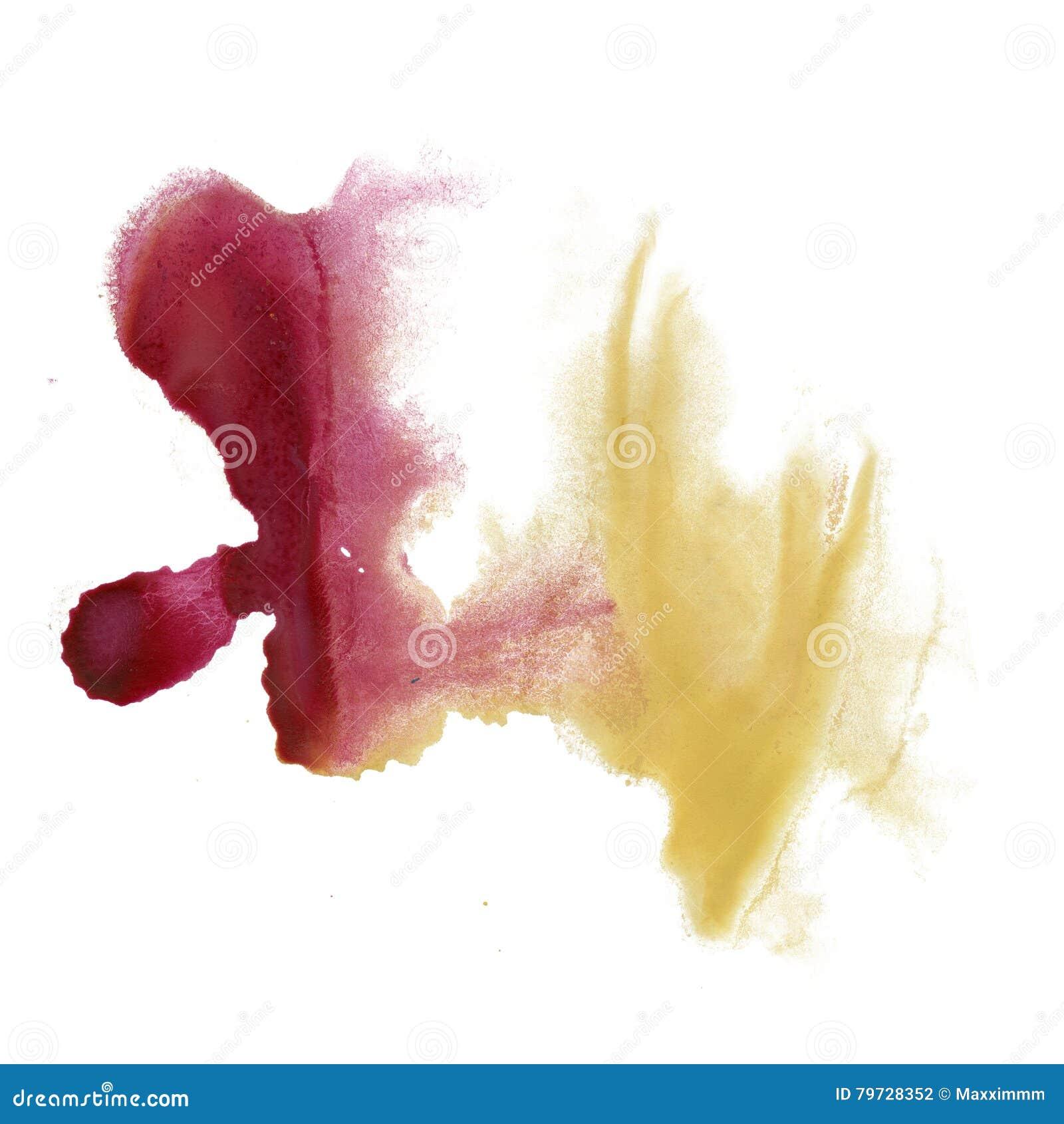 Color rojo del amarillo de la textura del movimiento de la pintura de los movimientos de la acuarela con el espacio para su propi