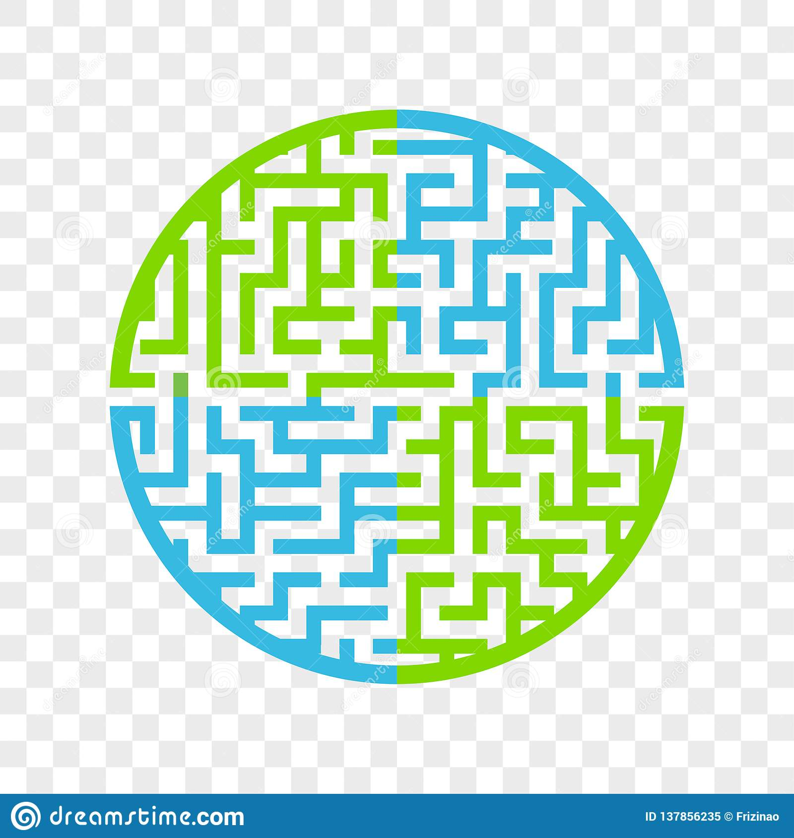 Color Round Maze. Painted In Different Colors. Game For Kids ...