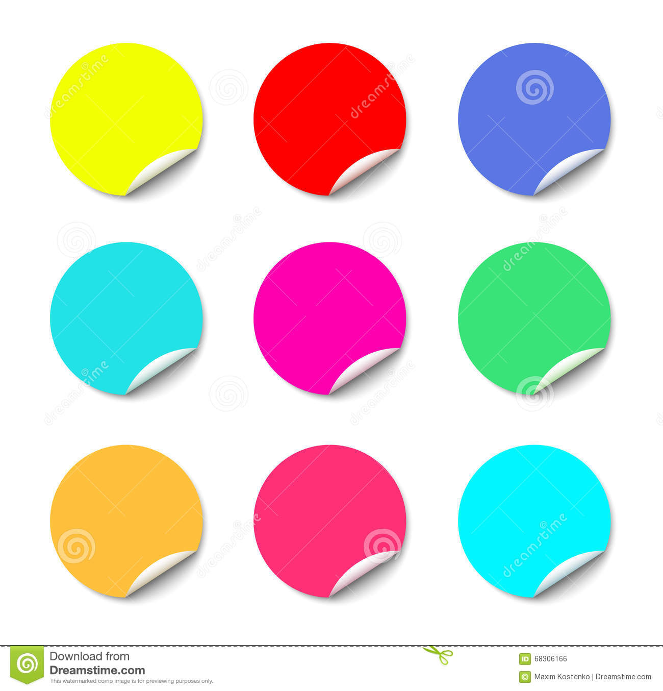 Round Color Palette With Eight Basic Colors Cartoon Vector