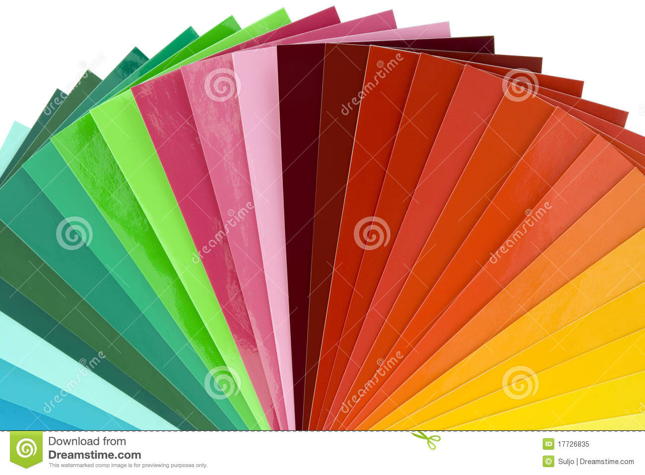 Color Scale Cutout Stock Image Image Of Palette Book 17726835