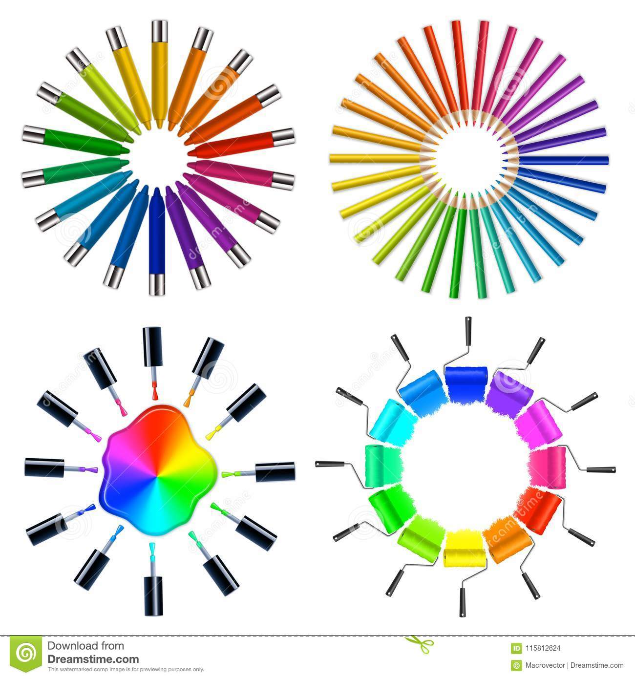 Color Scheme Art Objects Stock Vector Illustration Of Creative