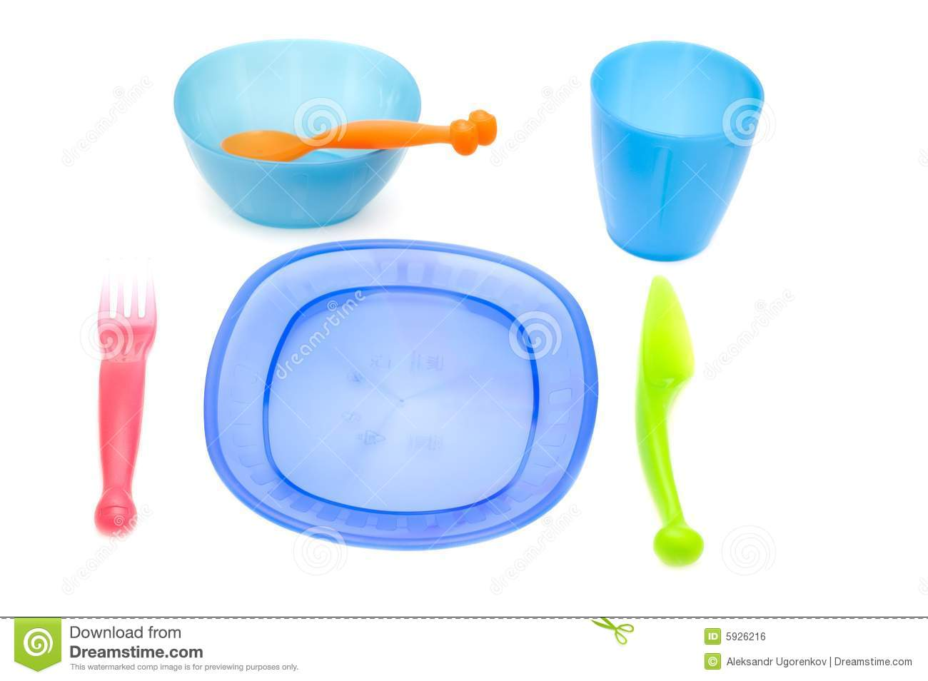 Color Set of ware