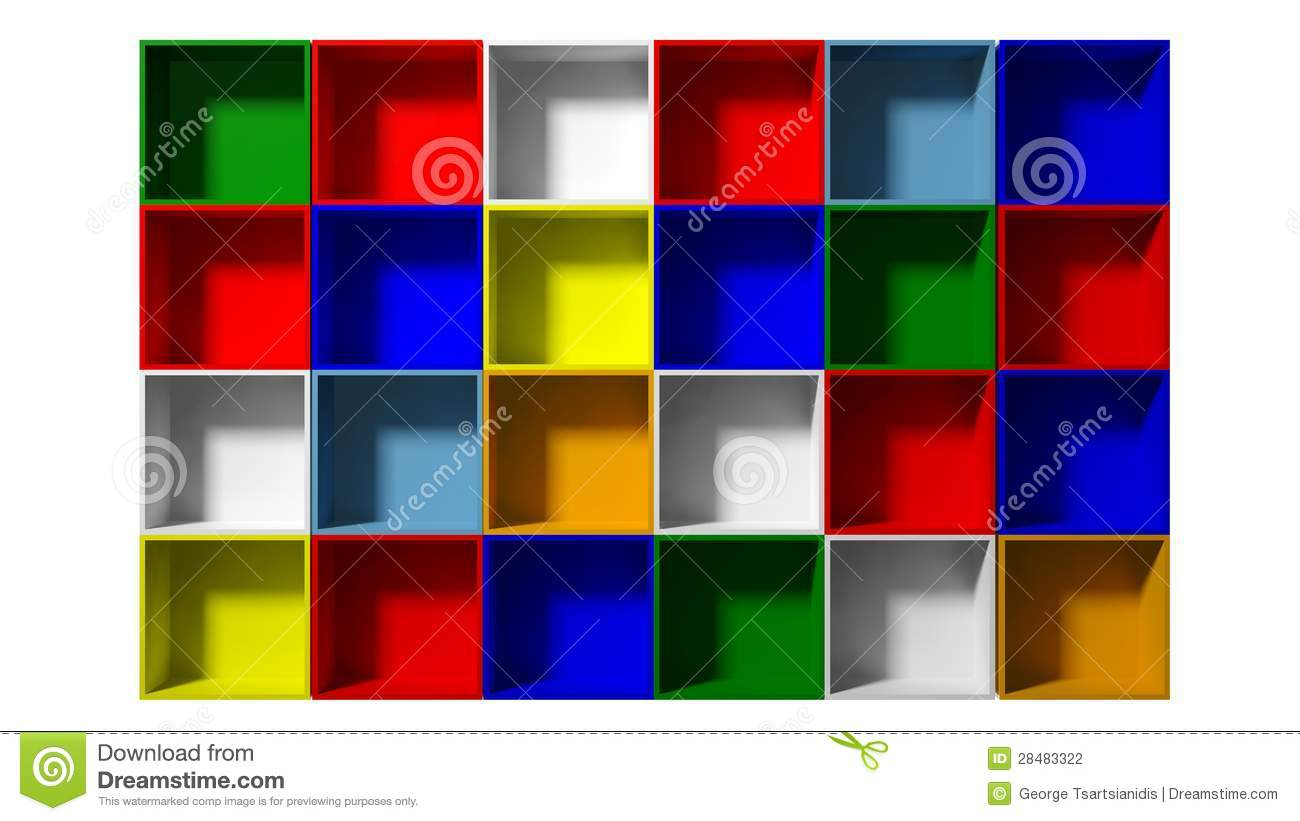 Color Shelves Stock Photography - Image: 28483322