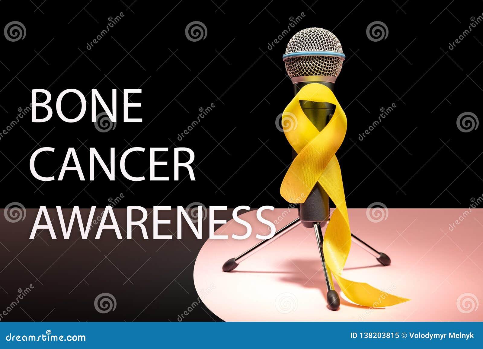Color simbólico de la cinta amarilla para la conciencia del cáncer de hueso del sarcoma y la prevención del suicidio